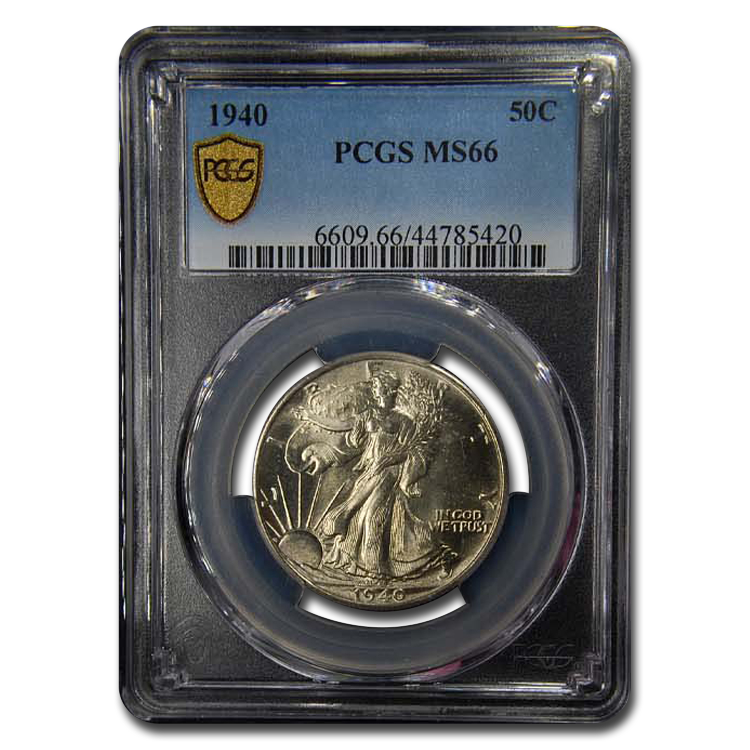 1940 Walking Liberty Half Dollar MS-66 PCGS