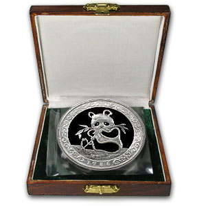 1986 China 12 oz Proof Silver Panda Hong Kong (w/Box & COA)