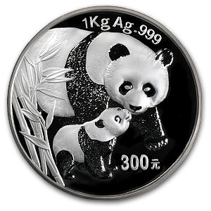 2004 (Kilo Proof) Silver Chinese Panda (W/Box & Coa)