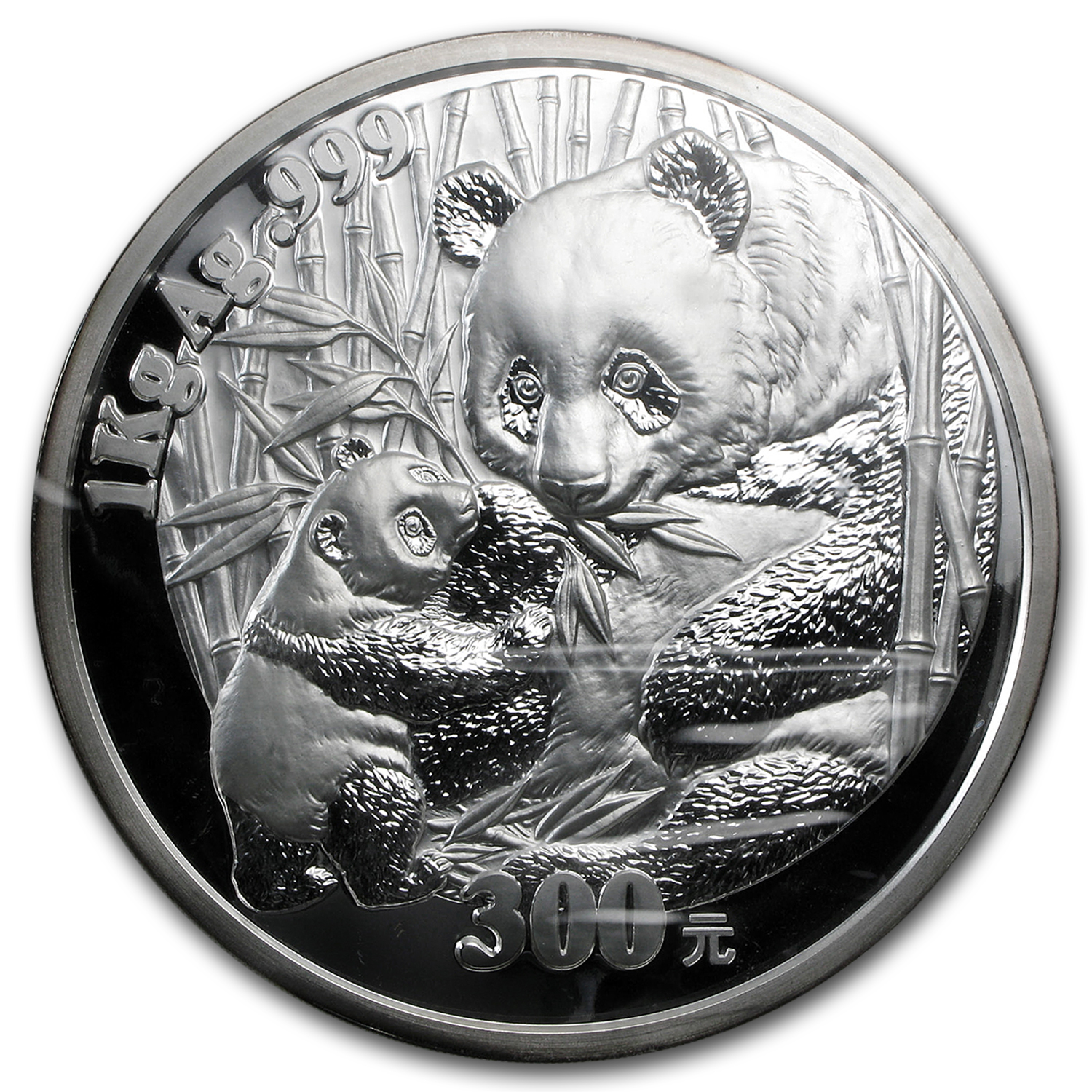 2005 1 Kilo Silver Chinese Panda Proof (w/Box & COA)