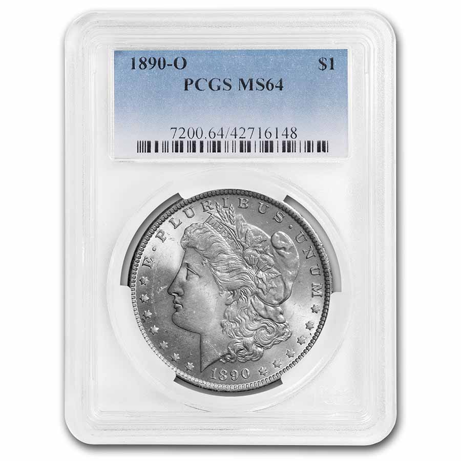 1890-O Morgan Dollar - MS-64 PCGS