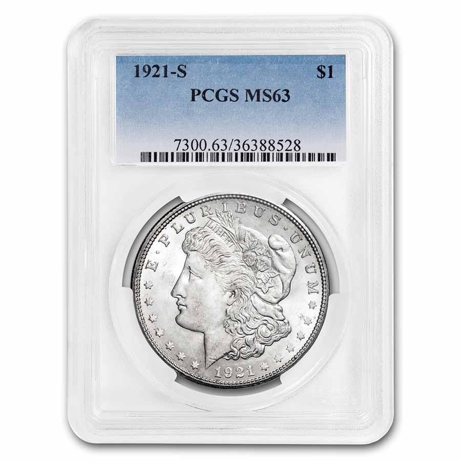 1921-S Morgan Dollar MS-63 PCGS