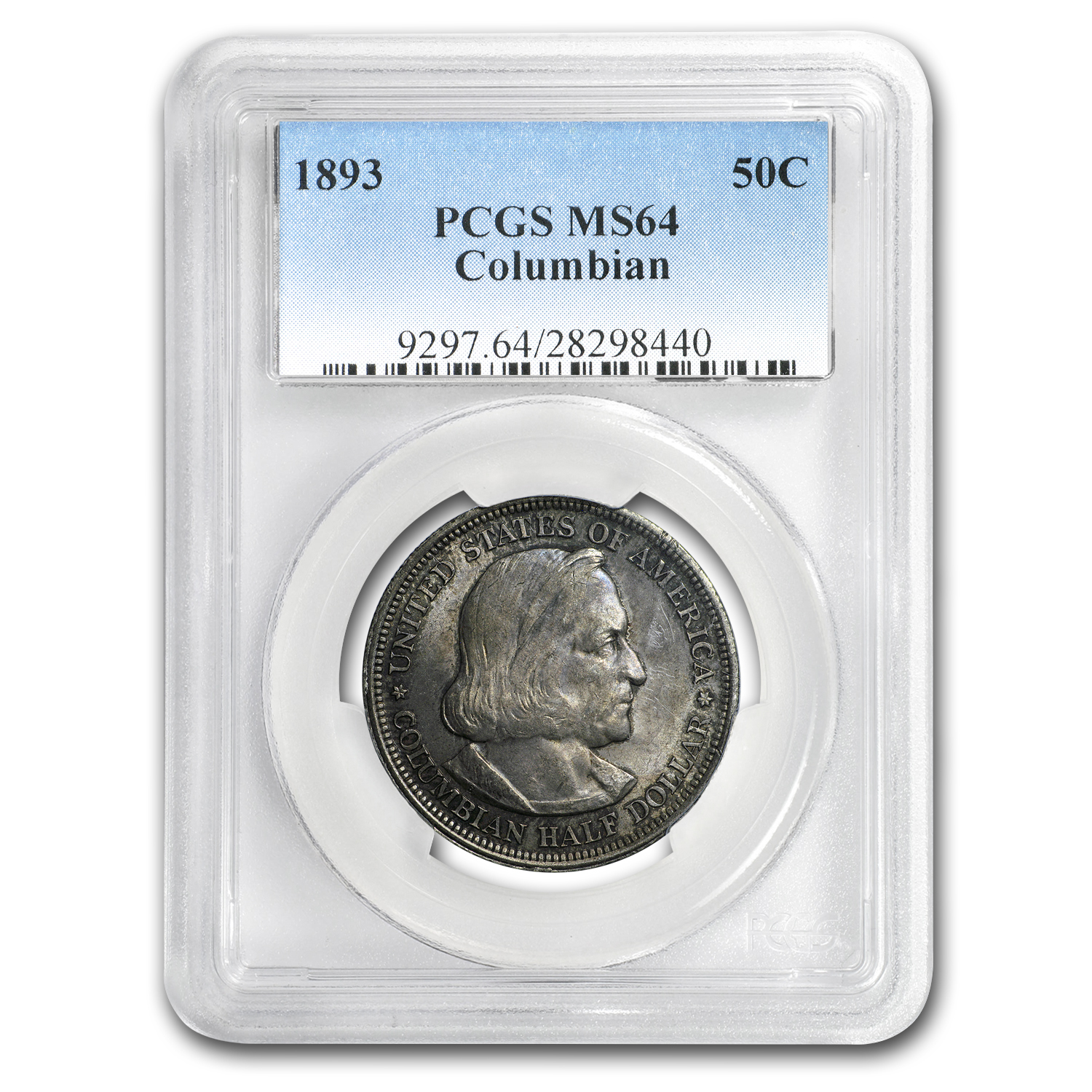 1893 Columbian Expo Half Dollar Expo MS-64 PCGS (Toned)