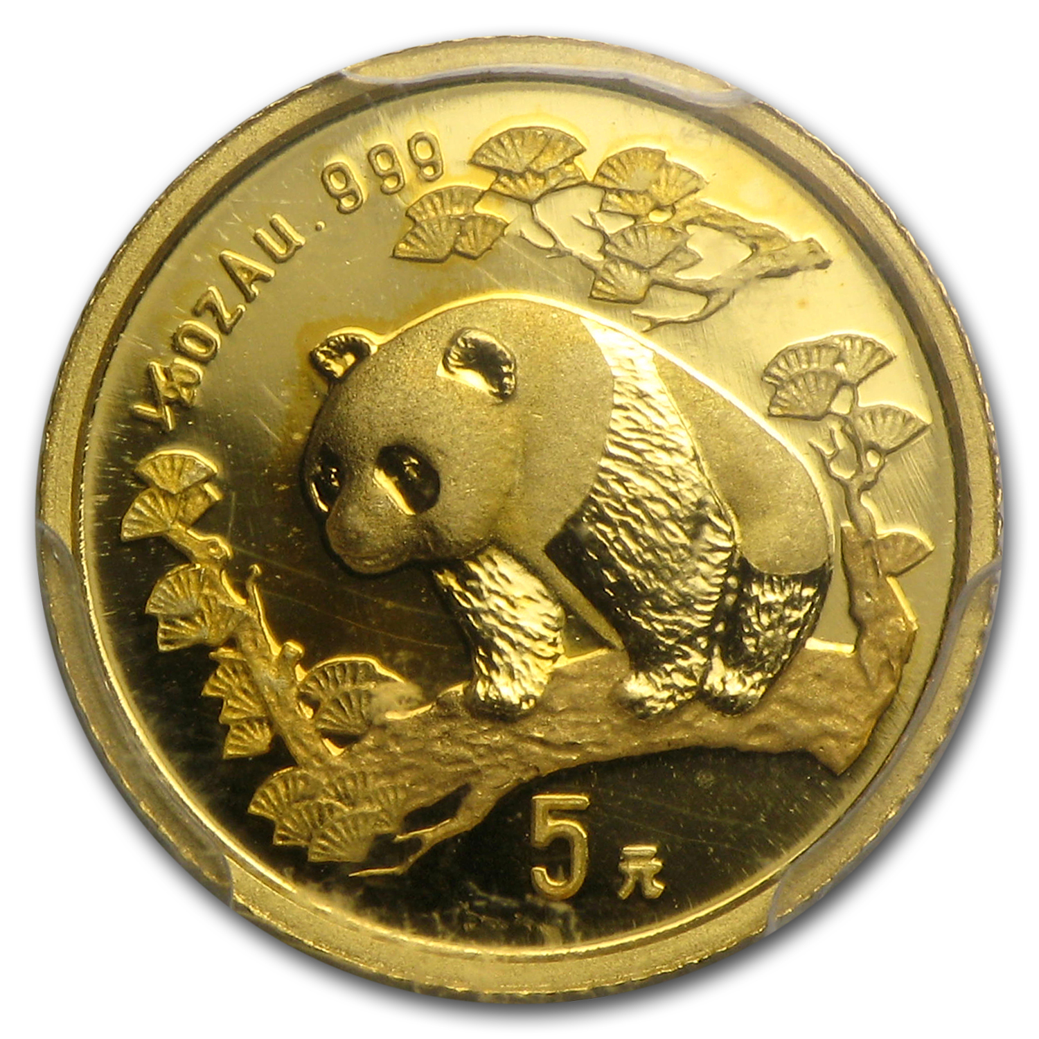 1997 China 1/20 oz Gold Panda Large Date MS-69 PCGS