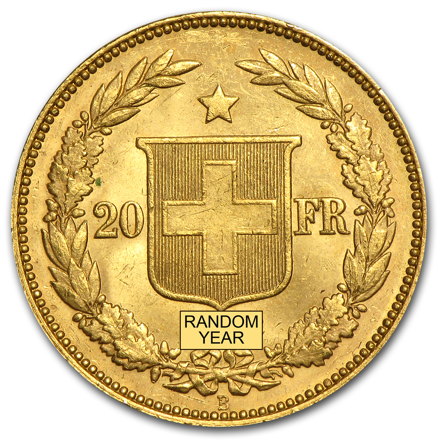 1883-1896 Switzerland Gold 20 Francs AU (AGW .1867, Random)