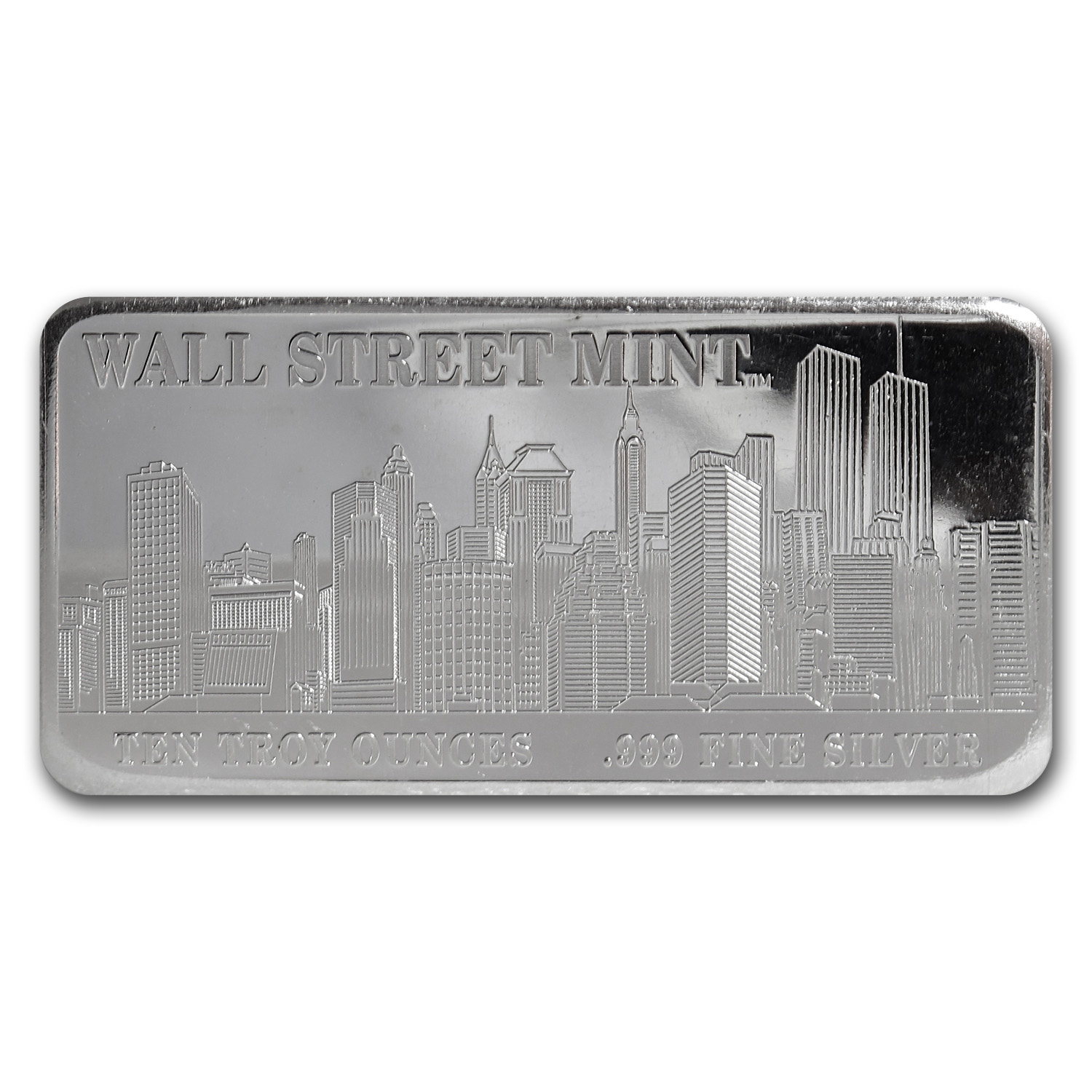 10 oz Silver Bar - Wall Street Mint (Type 1)