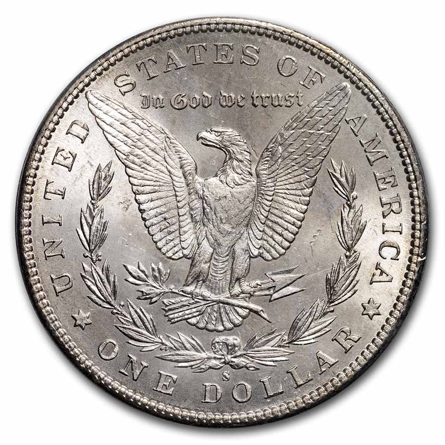 1885-S Morgan Dollar MS-64 PCGS