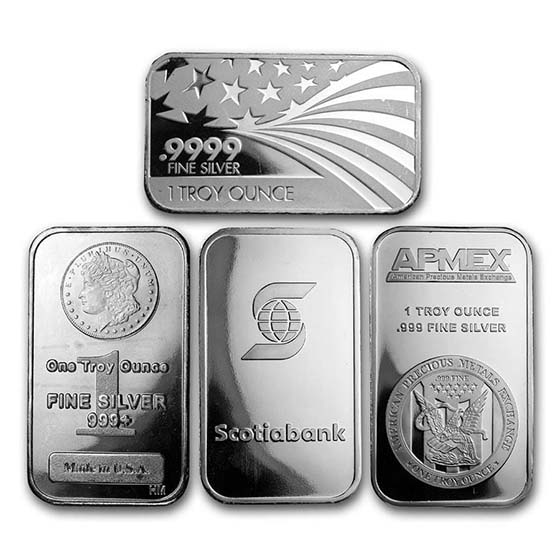 1 oz Silver Bar - (Secondary Market)