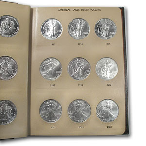 1986-2012 1oz Silver American Eagle 27-Coin Set BU (Dansco Album)