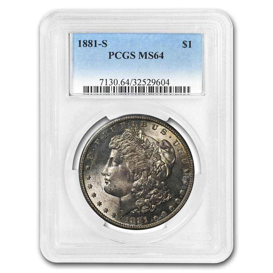 1878-1904 Morgan Dollars MS-64 PCGS (Toned Obverse/Reverse)
