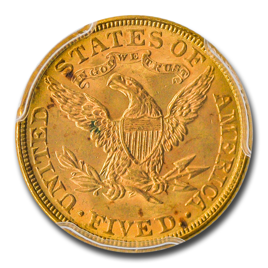 1881 $5 Liberty Gold Half Eagle MS-64 PCGS