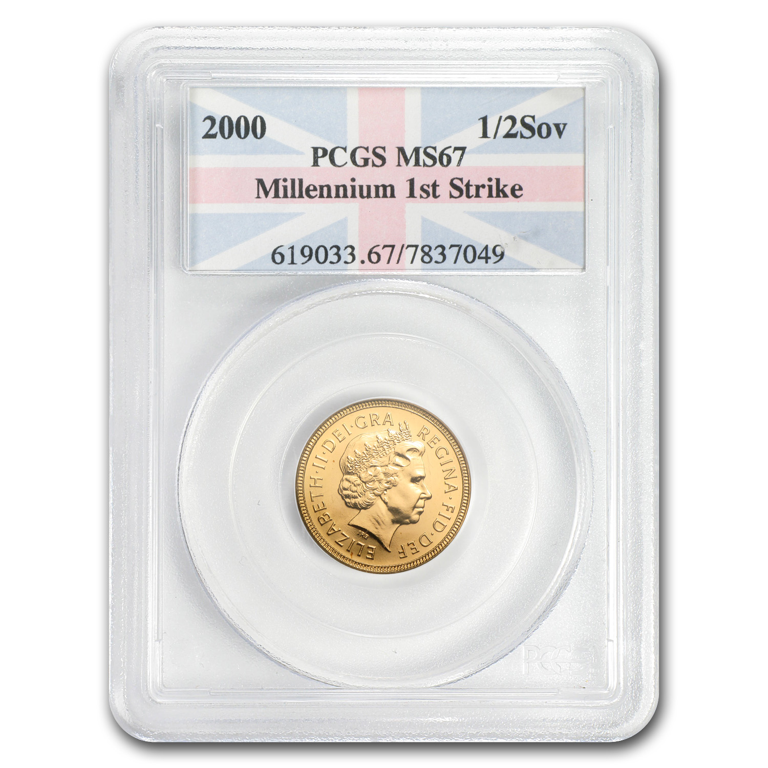 2000 Great Britain Gold 1/2 Sovereign MS-67 PCGS (First Strike)