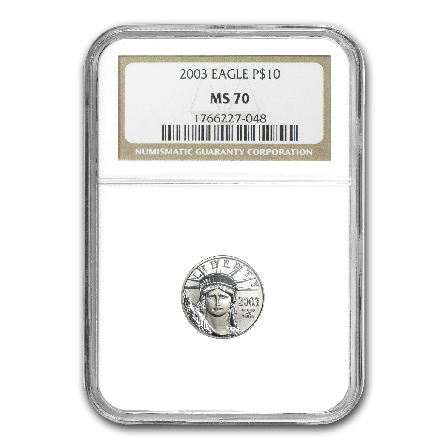 2003 1/10 oz Platinum American Eagle MS-70 NGC