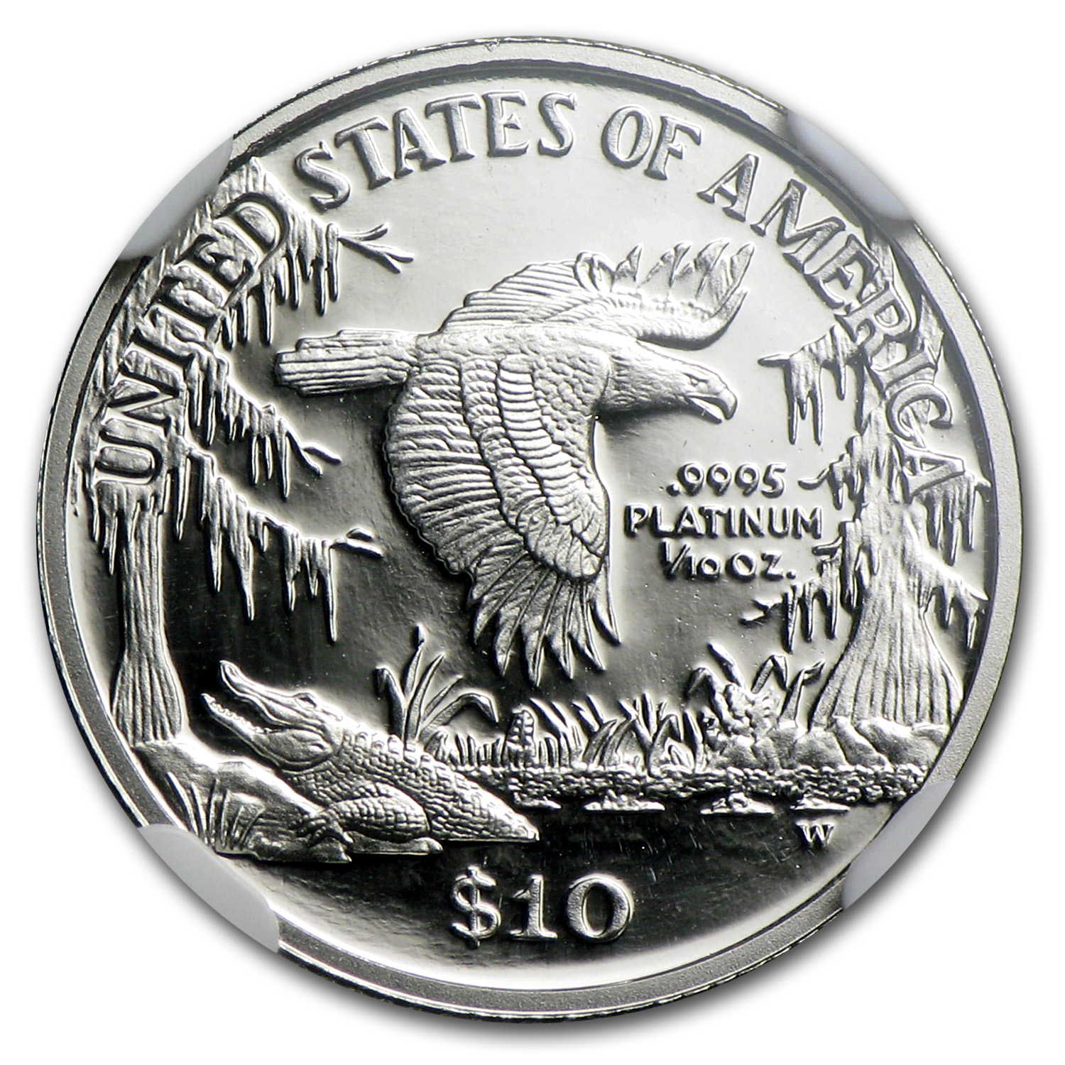 1999-W 1/10 oz Proof Platinum American Eagle PF-70 NGC