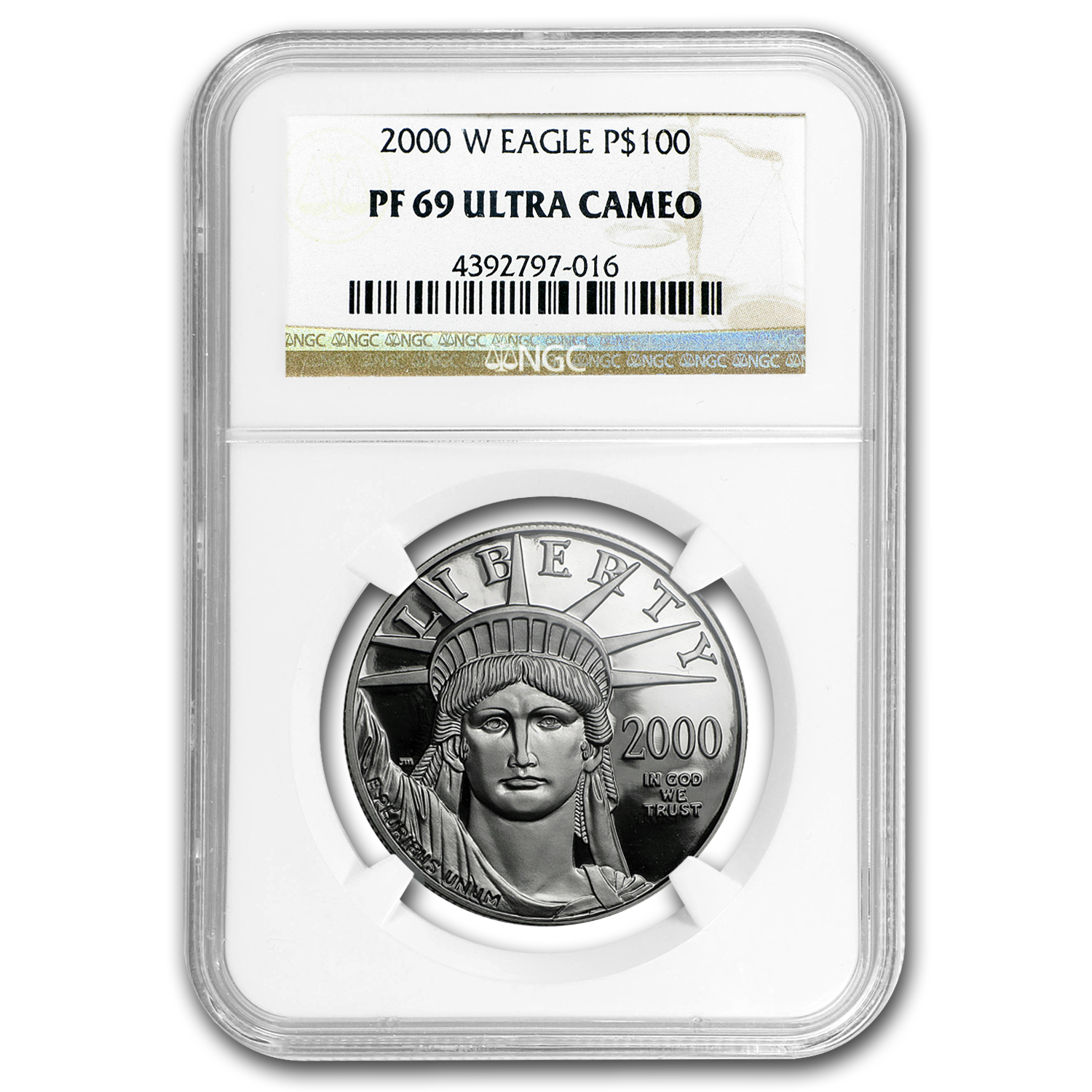 2000-W 1 oz Proof Platinum American Eagle PF-69 NGC