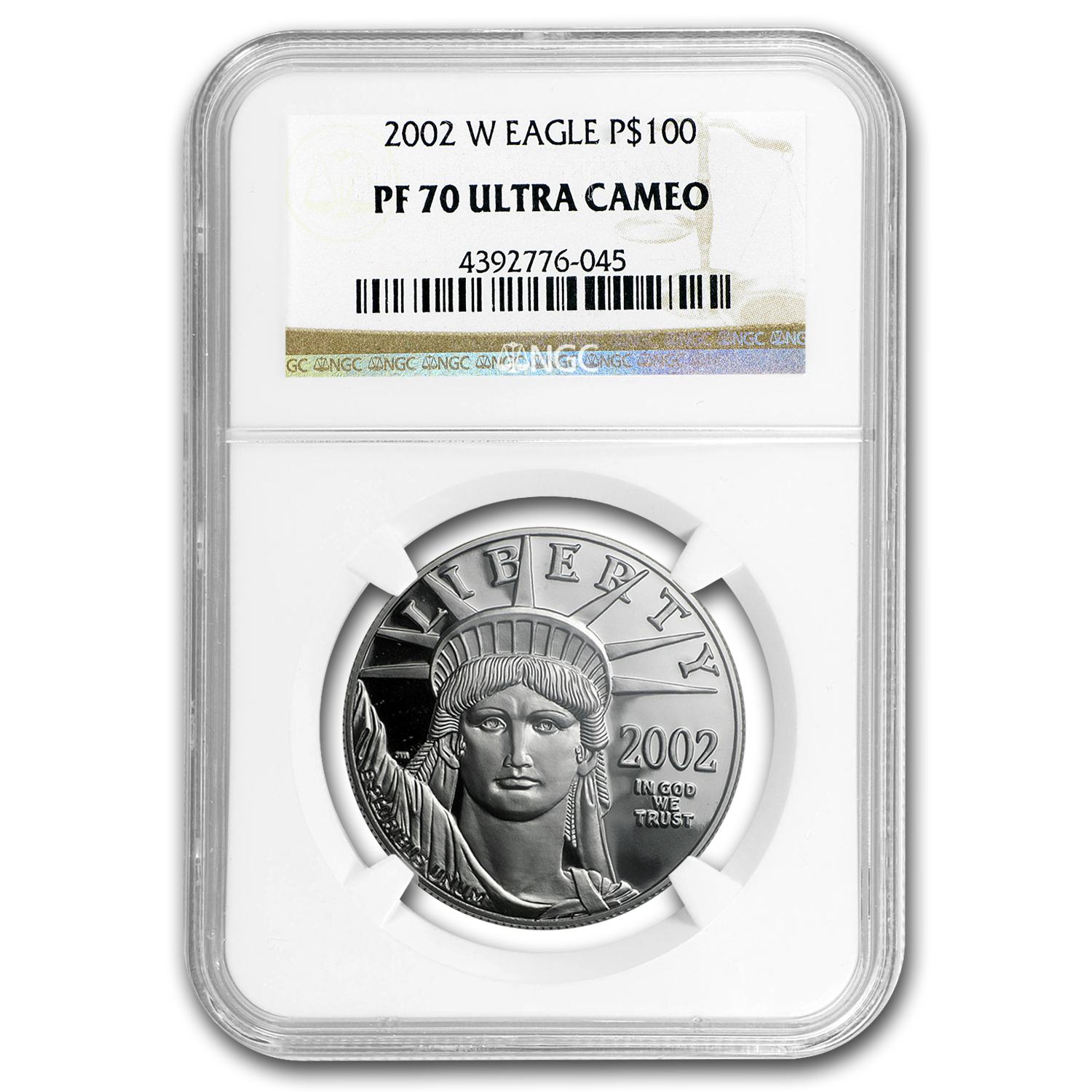 2002-W 1 oz Proof Platinum American Eagle PF-70 NGC