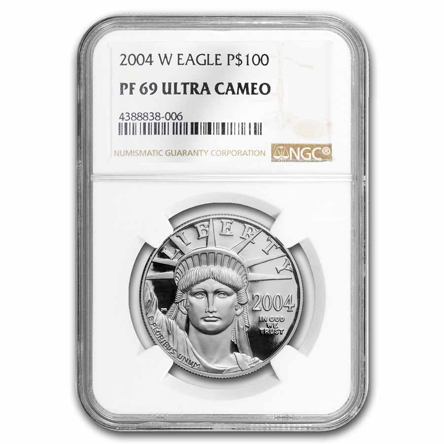 2004-W 1 oz Proof Platinum American Eagle PF-69 NGC