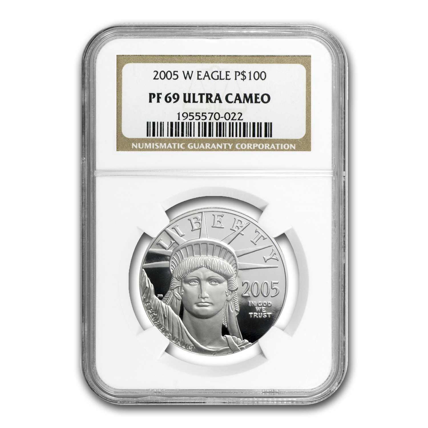 2005-W 1 oz Proof Platinum American Eagle PF-69 UCAM NGC