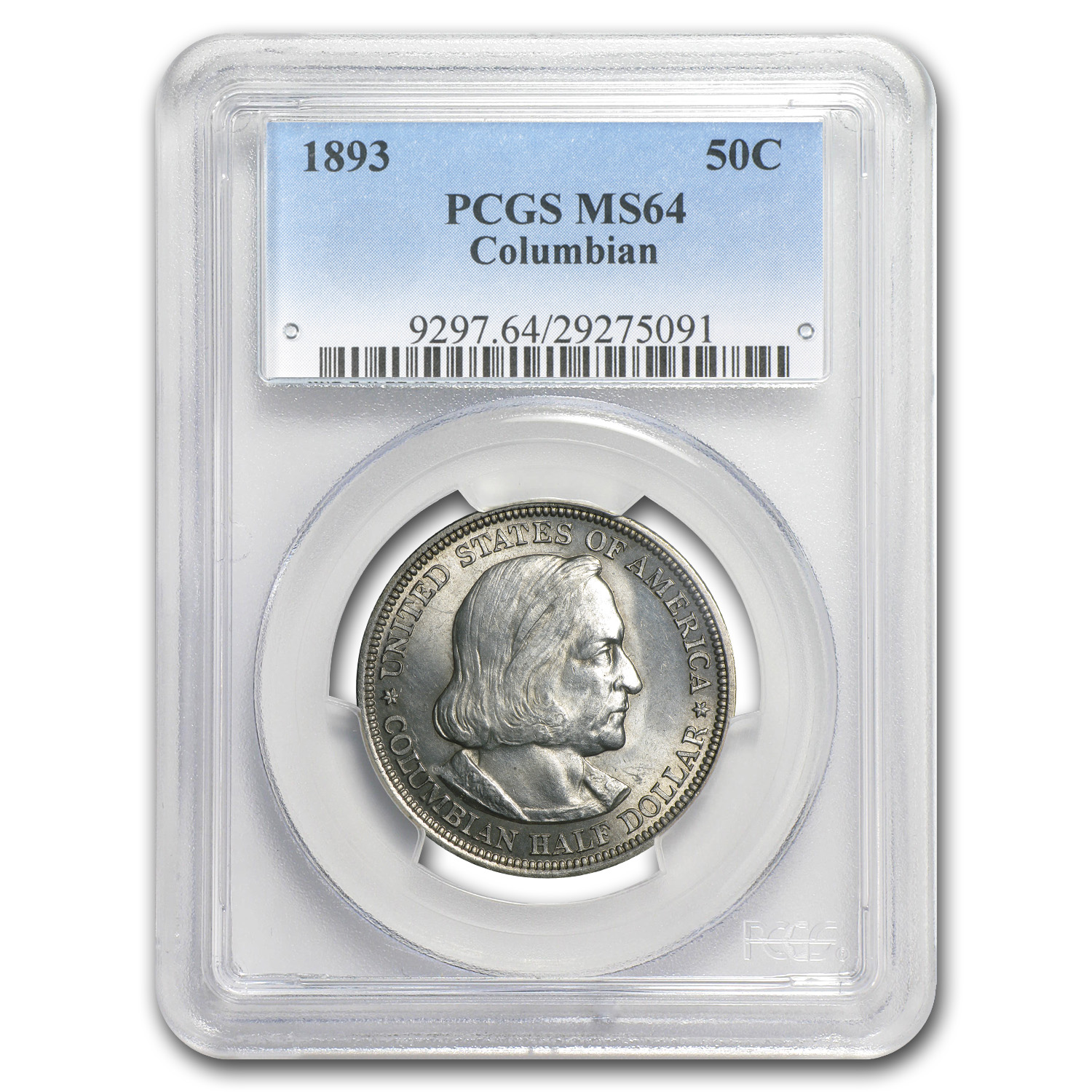 1893 Columbian Expo Half Dollar Expo MS-64 PCGS