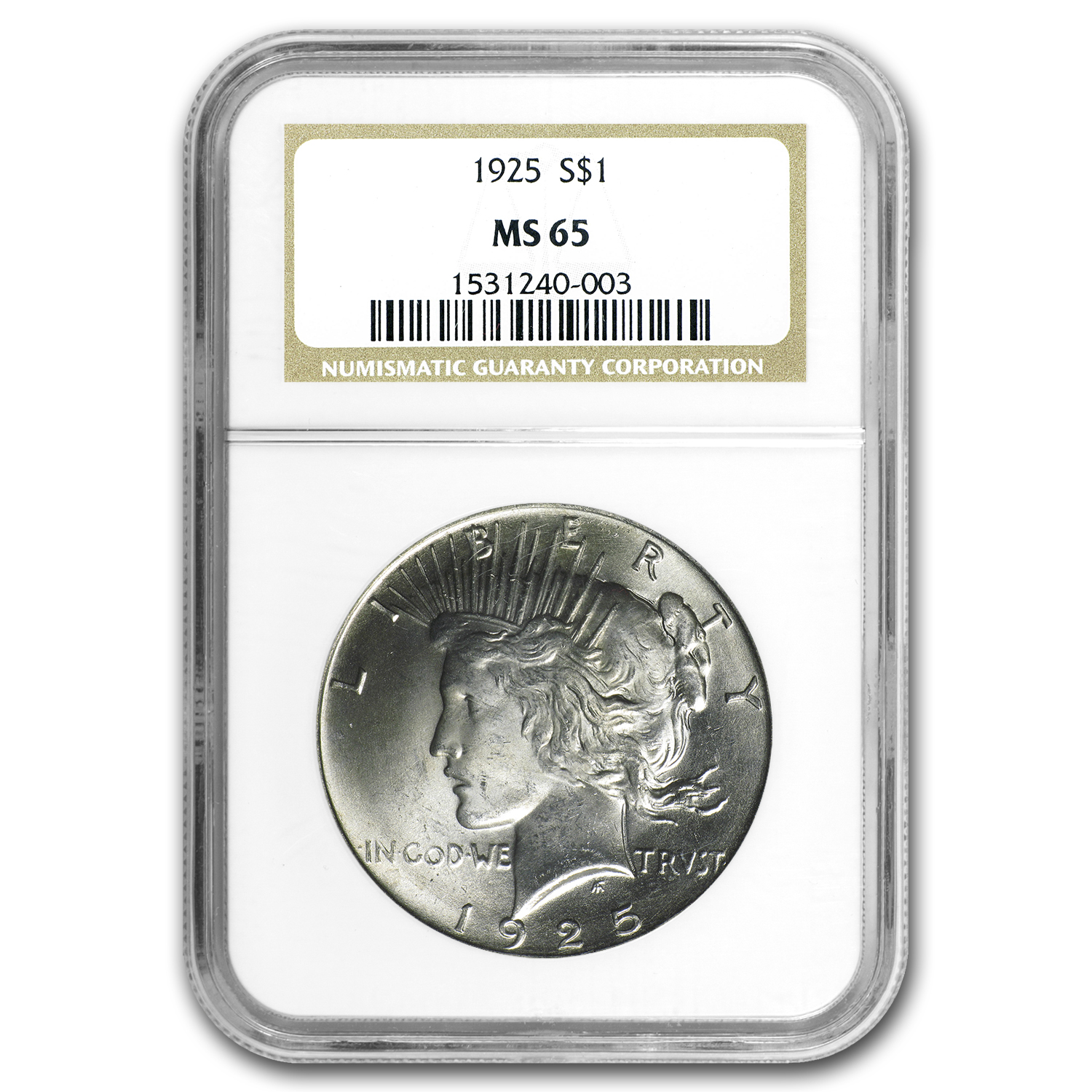 1925 Peace Dollar MS-65 NGC