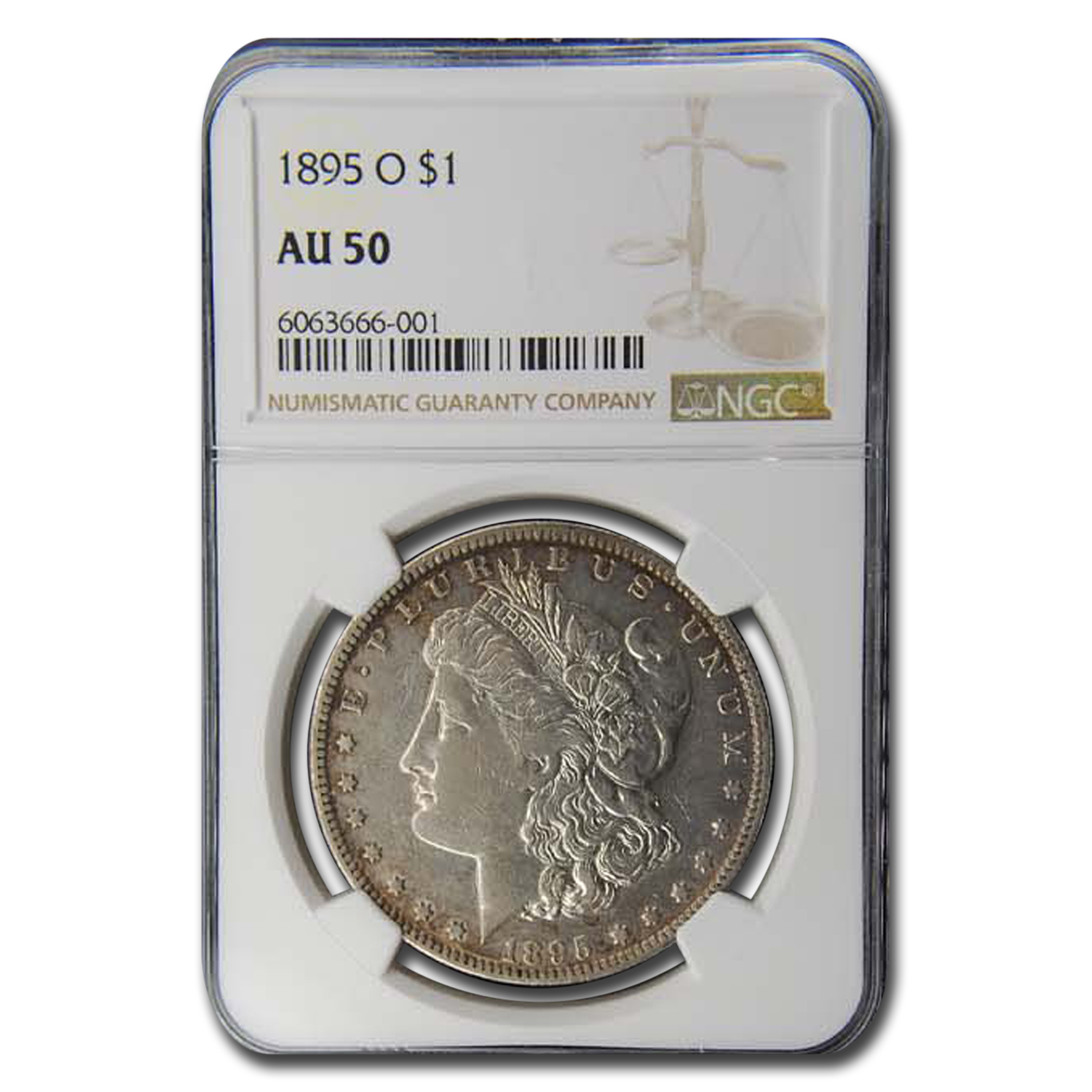 1895-O Morgan Dollar AU-50 NGC