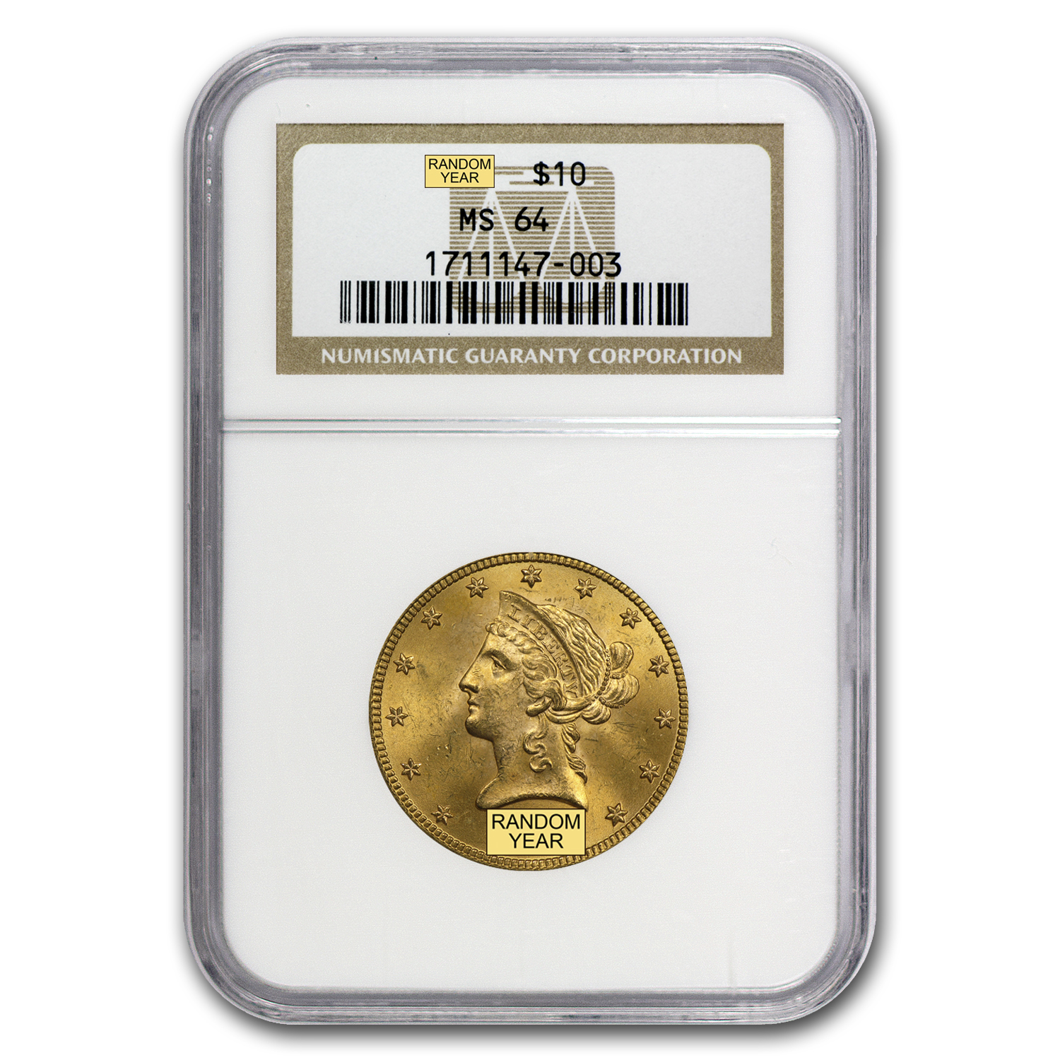 $10 Liberty Gold Eagle MS-64 NGC