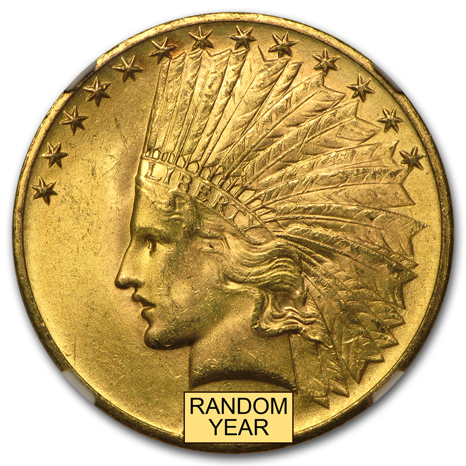 $10 Indian Gold Eagle - MS-64 NGC