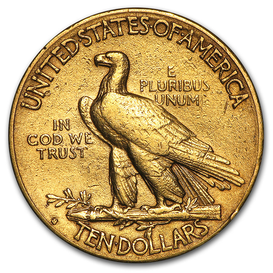 $10 Indian Gold Eagle (Cleaned)