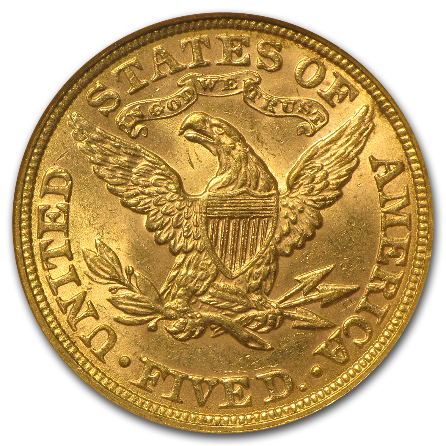 $5 Liberty Gold Half Eagle - MS-61 NGC