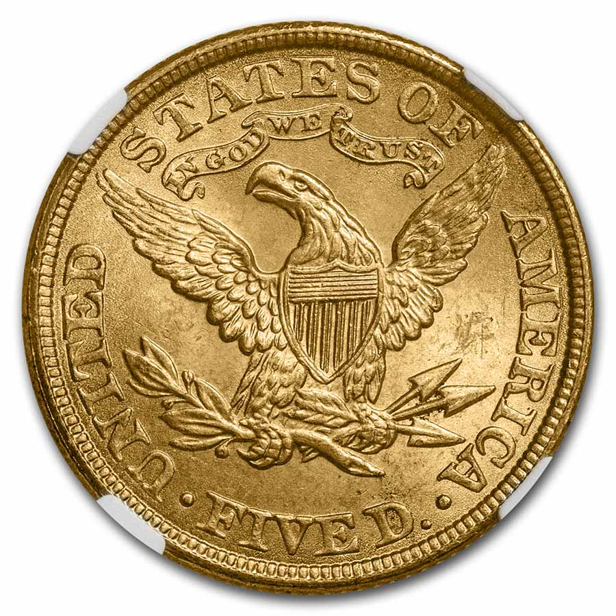$5 Liberty Gold Half Eagle - MS-65 NGC