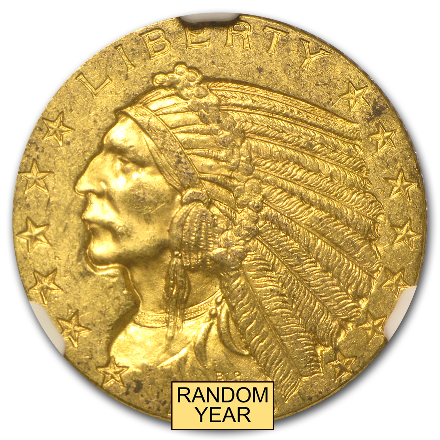 $5 Indian Gold Half Eagle - MS-62 NGC