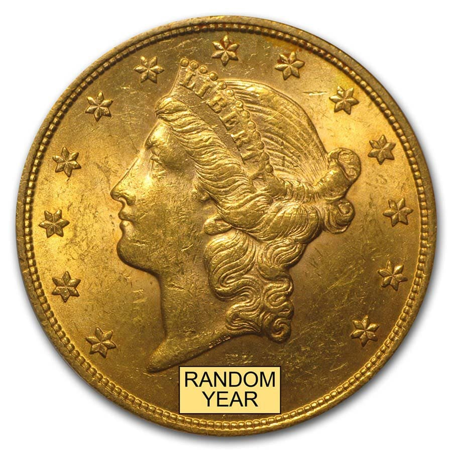 $20 Liberty Gold Double Eagle BU (Random Year)