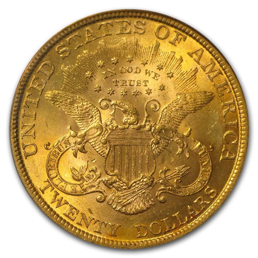 $20 Liberty Gold Double Eagle MS-61 PCGS (Random)