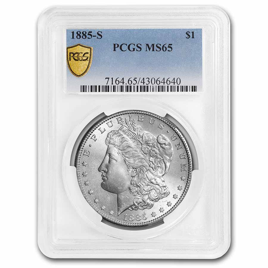 1885-S Morgan Dollar MS-65 PCGS