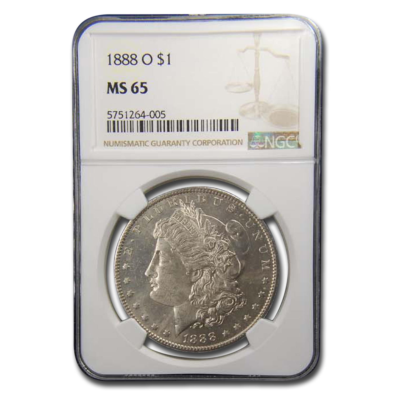 1888-O Morgan Dollar MS-65 NGC