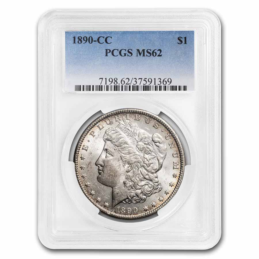 1890-CC Morgan Dollar MS-62 PCGS