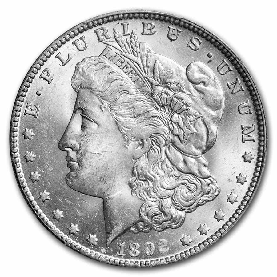 1892-O Morgan Dollar MS-63 PCGS