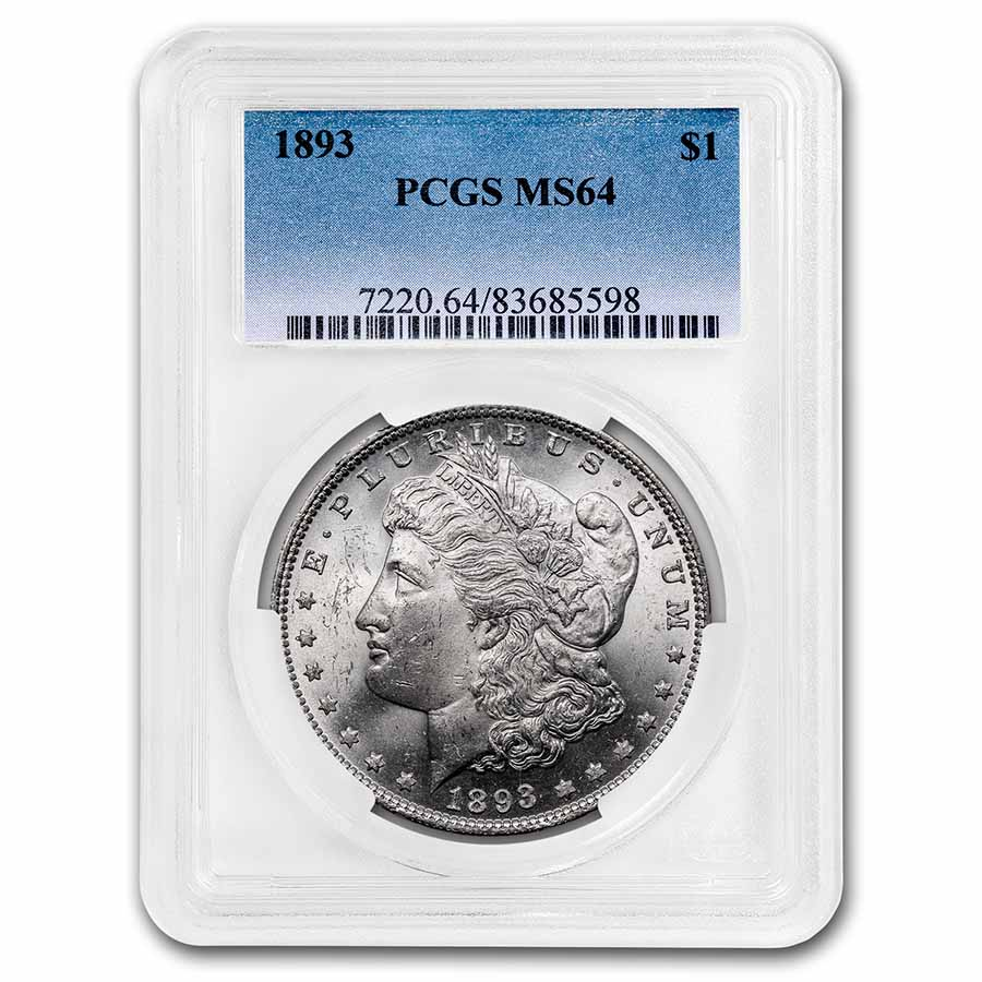 1893 Morgan Dollar MS-64 PCGS