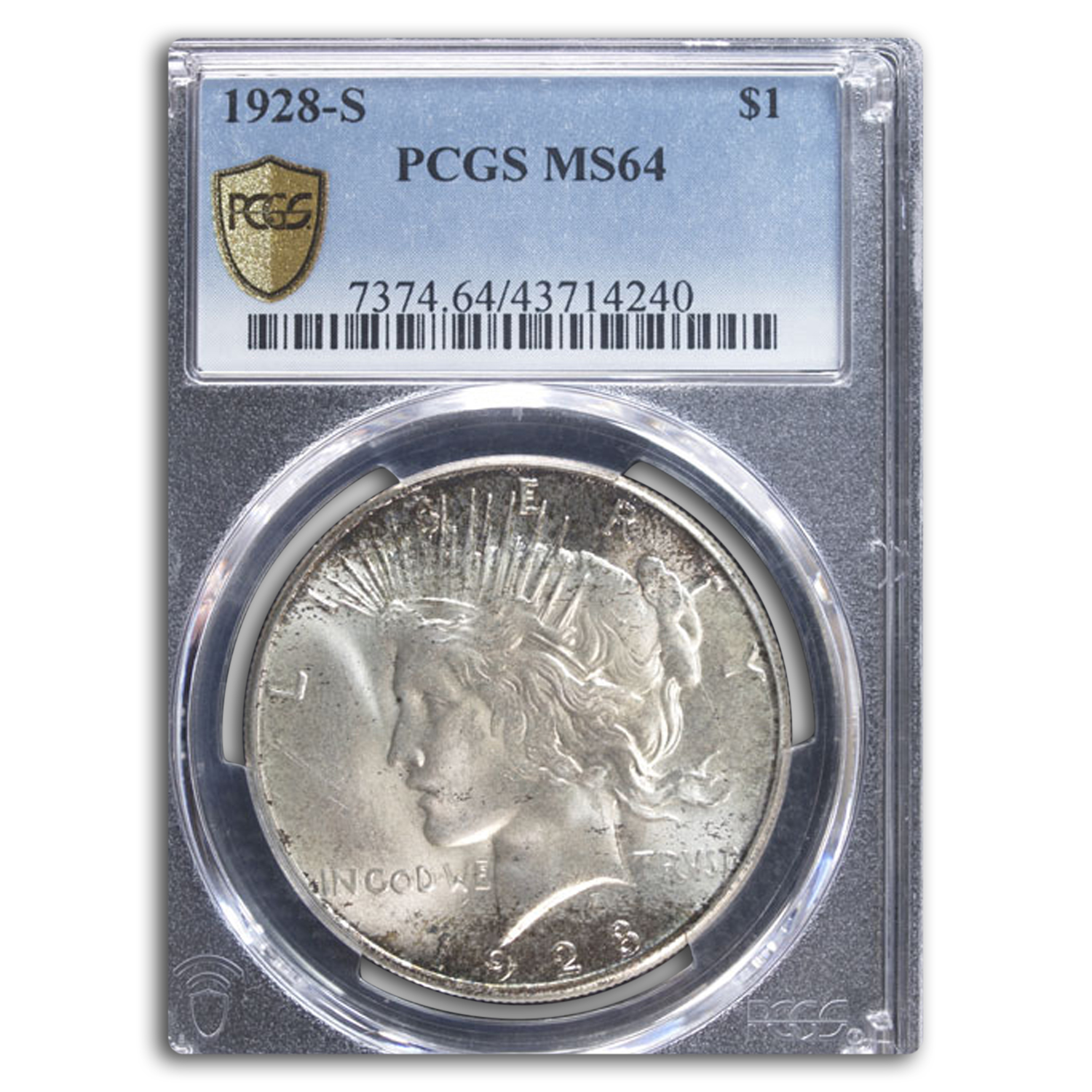 1928-S Peace Dollar MS-64 PCGS