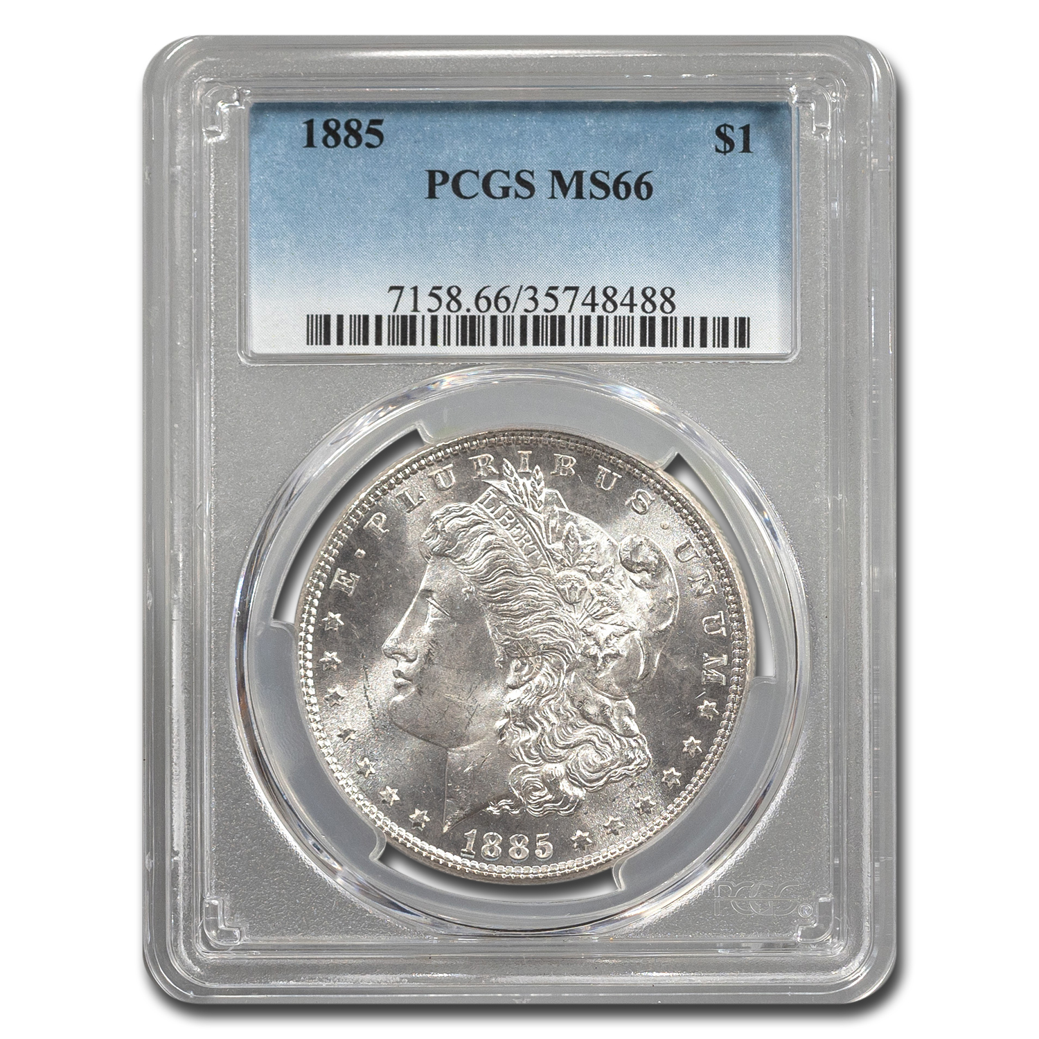 1885 Morgan Dollar MS-66 PCGS