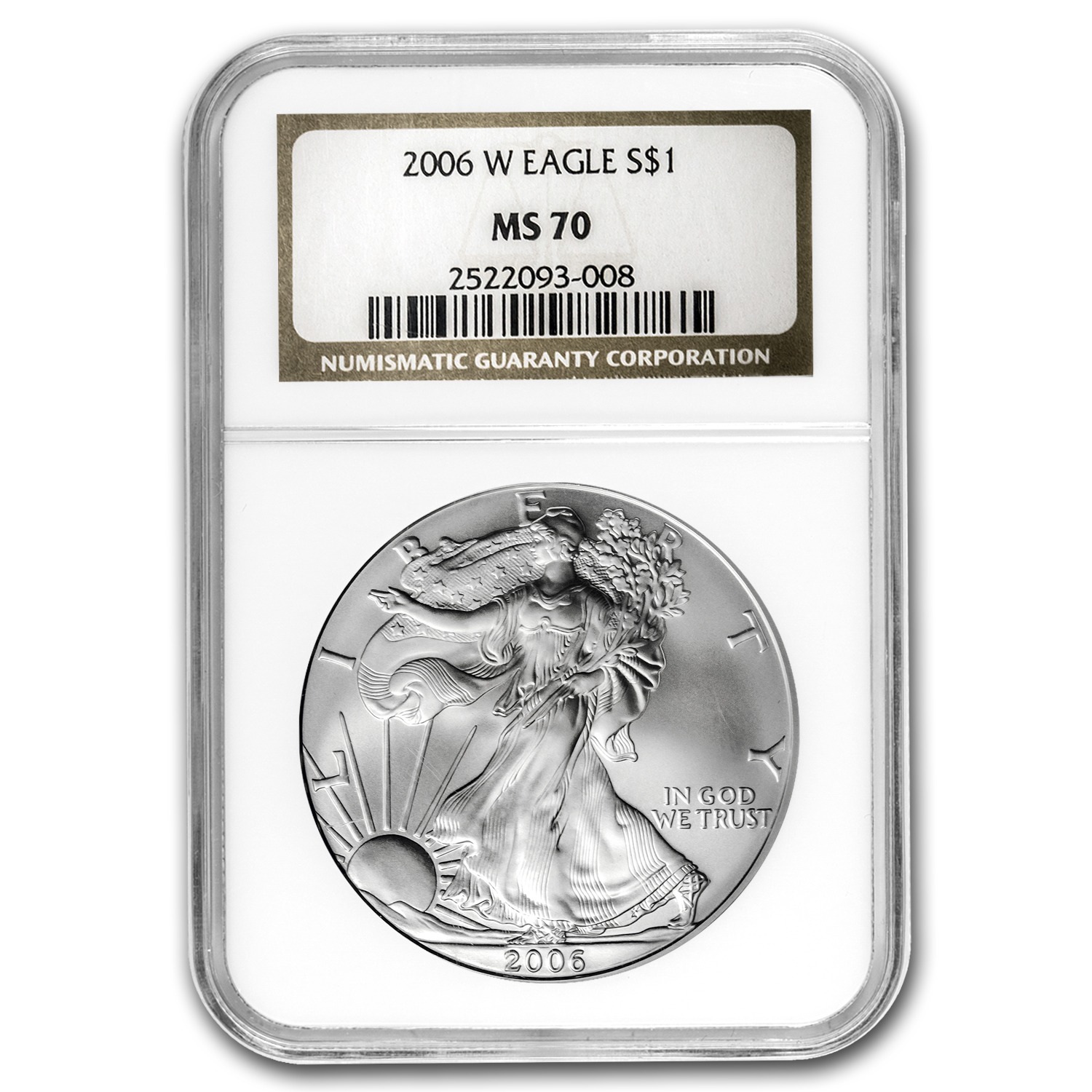 2006-W (Burnished) Silver American Eagle MS-70 NGC