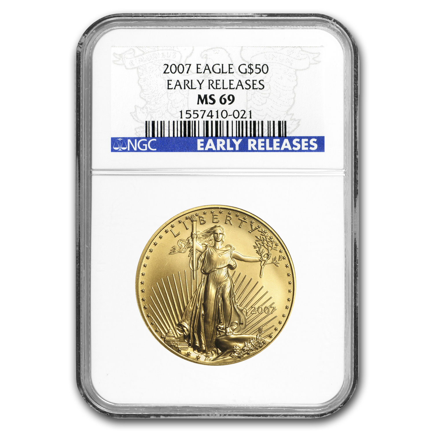 2007 1 oz Gold American Eagle MS-69 NGC (Early Releases)