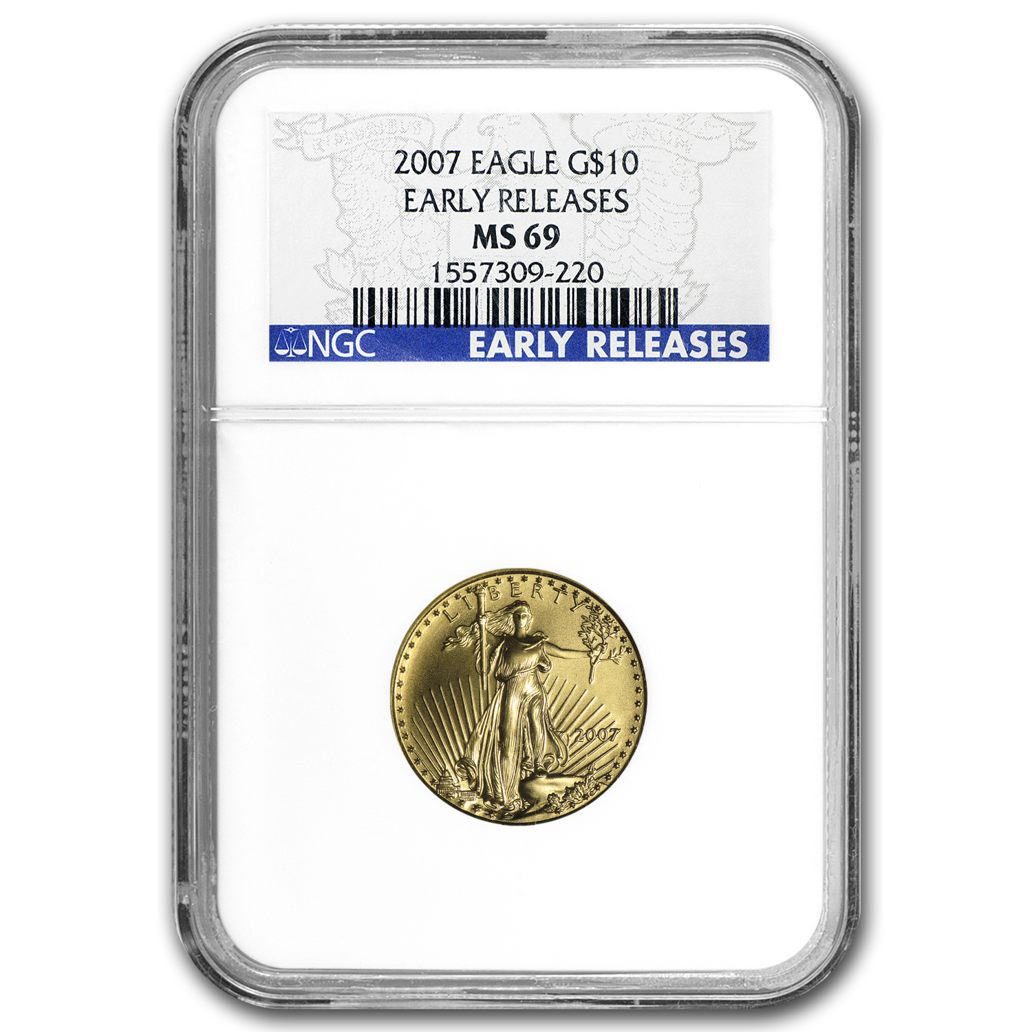 2007 1/4 oz Gold American Eagle MS-69 NGC (Early Releases)