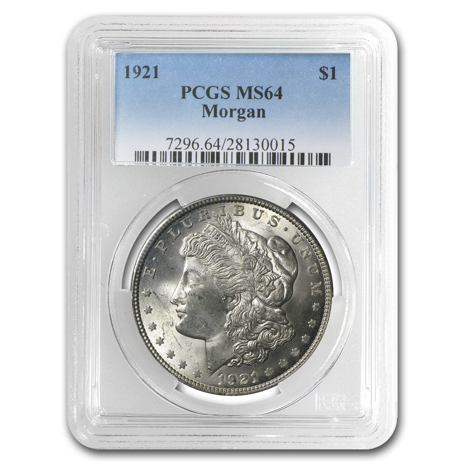 1921 Morgan Silver Dollar MS-64 PCGS