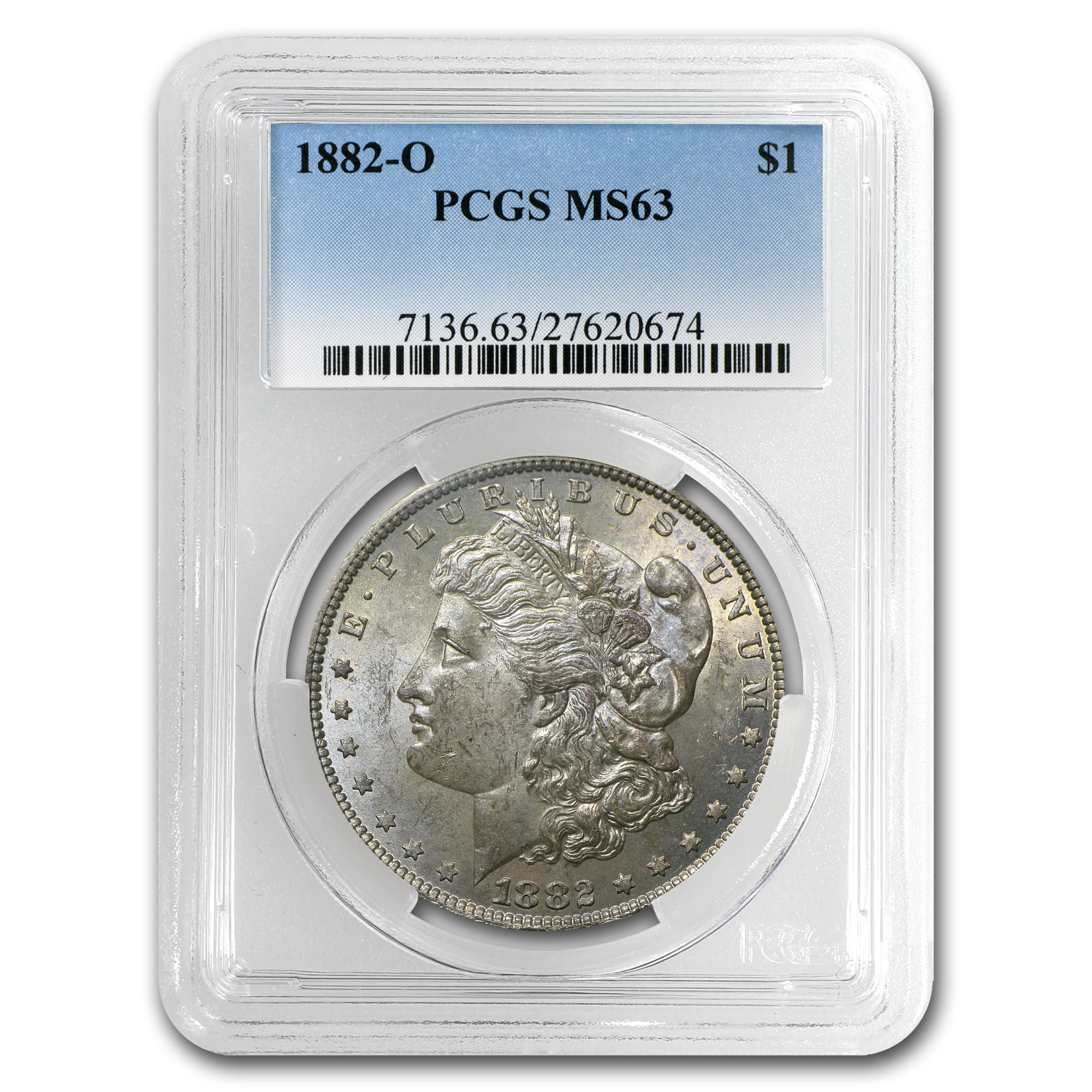 1878-1904 Morgan Dollars MS-63 PCGS (Toned Obverse/Reverse)