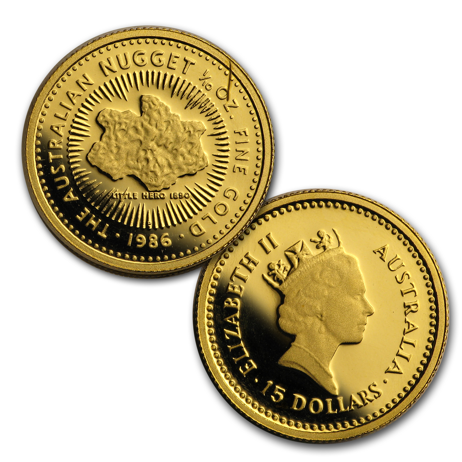 1986 Australia 4-Coin Gold Nugget Proof Set