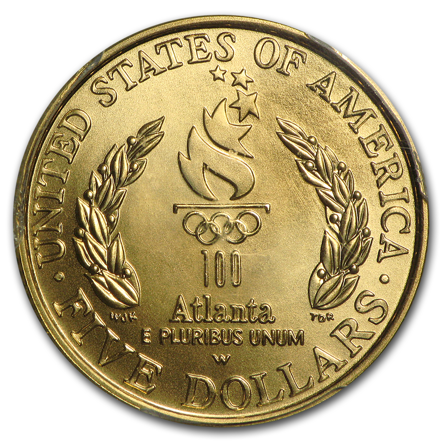 1996-W Gold $5 Commem Olympic Flag Bearer MS-69 PCGS