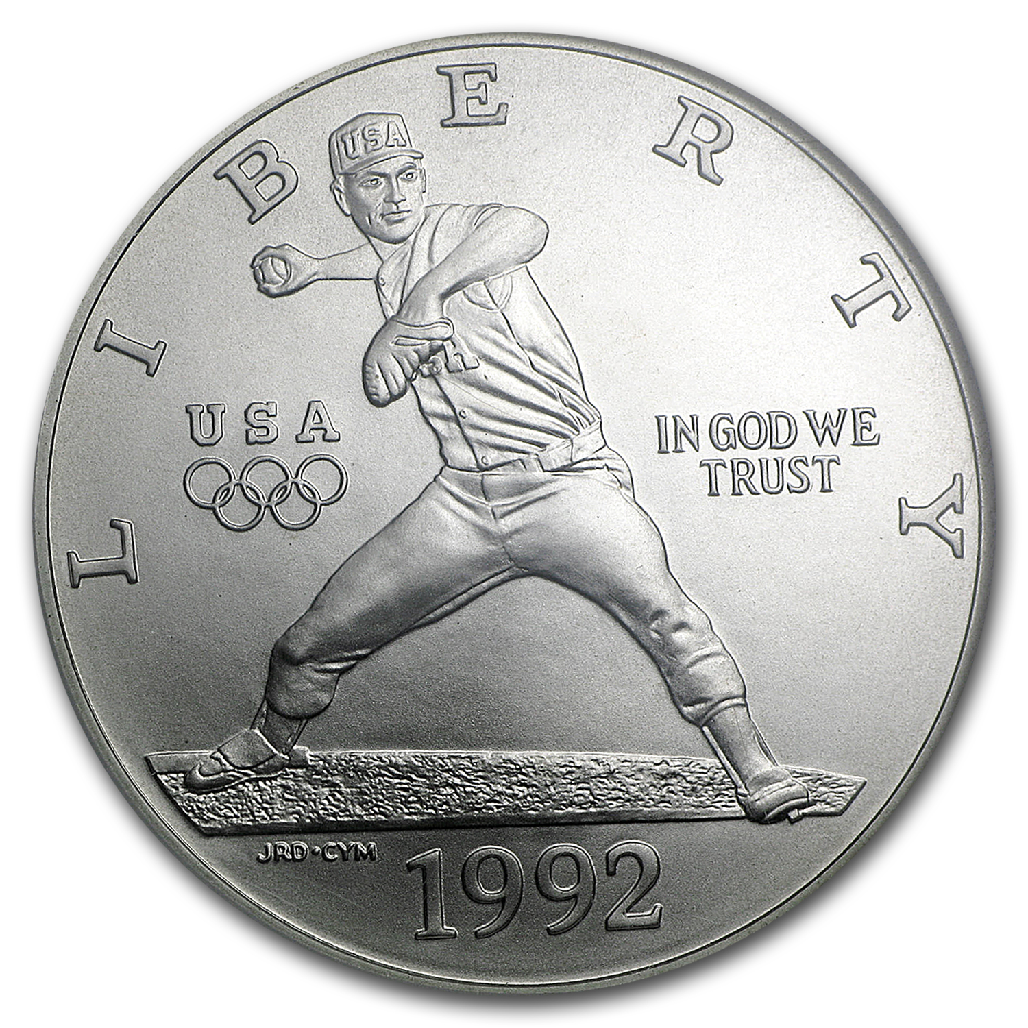 1992-D Olympic Baseball $1 Silver Commem MS-69 NGC