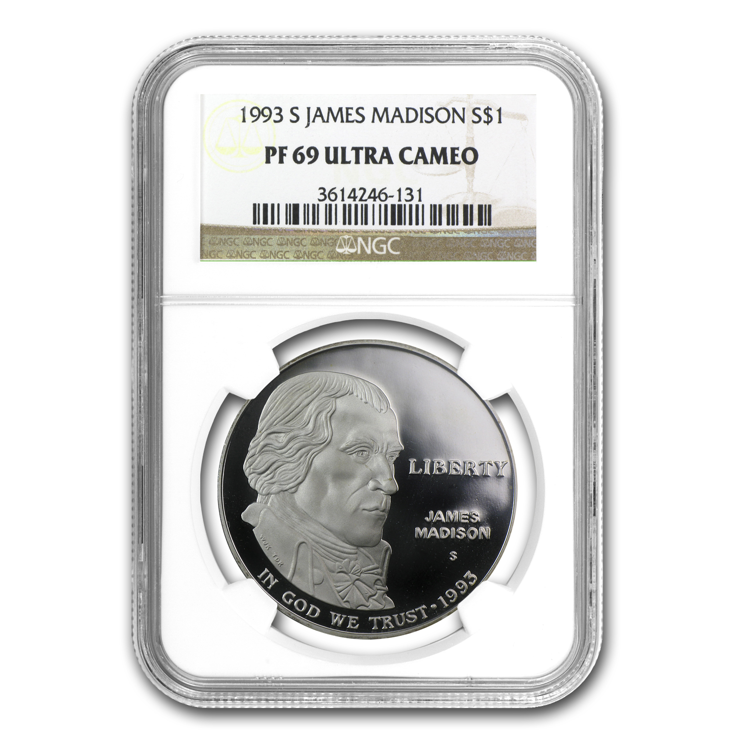 1993-S Bill of Rights $1 Silver Commemorative - PF-69 UCAM NGC