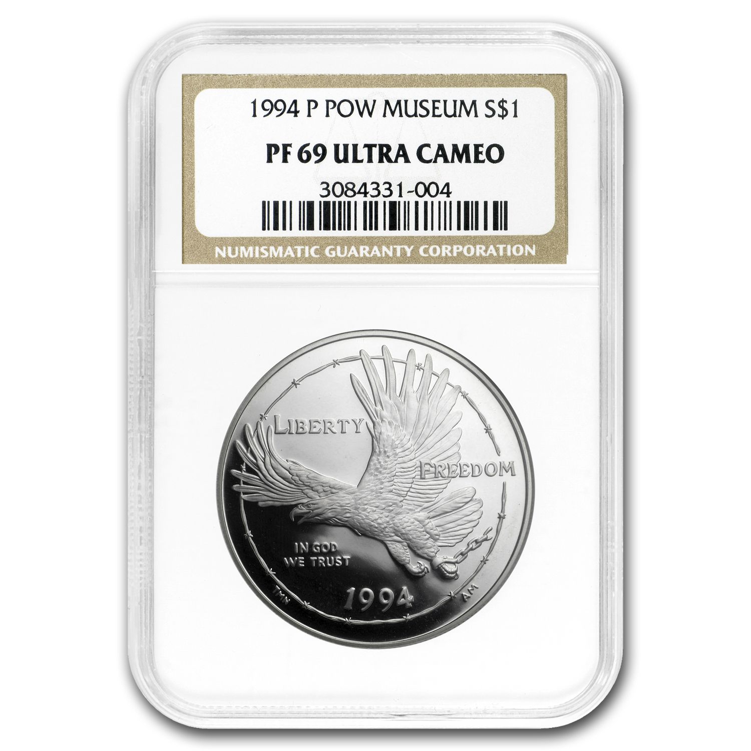 1994-P Prisoner of War $1 Silver Commemorative PF-69 NGC